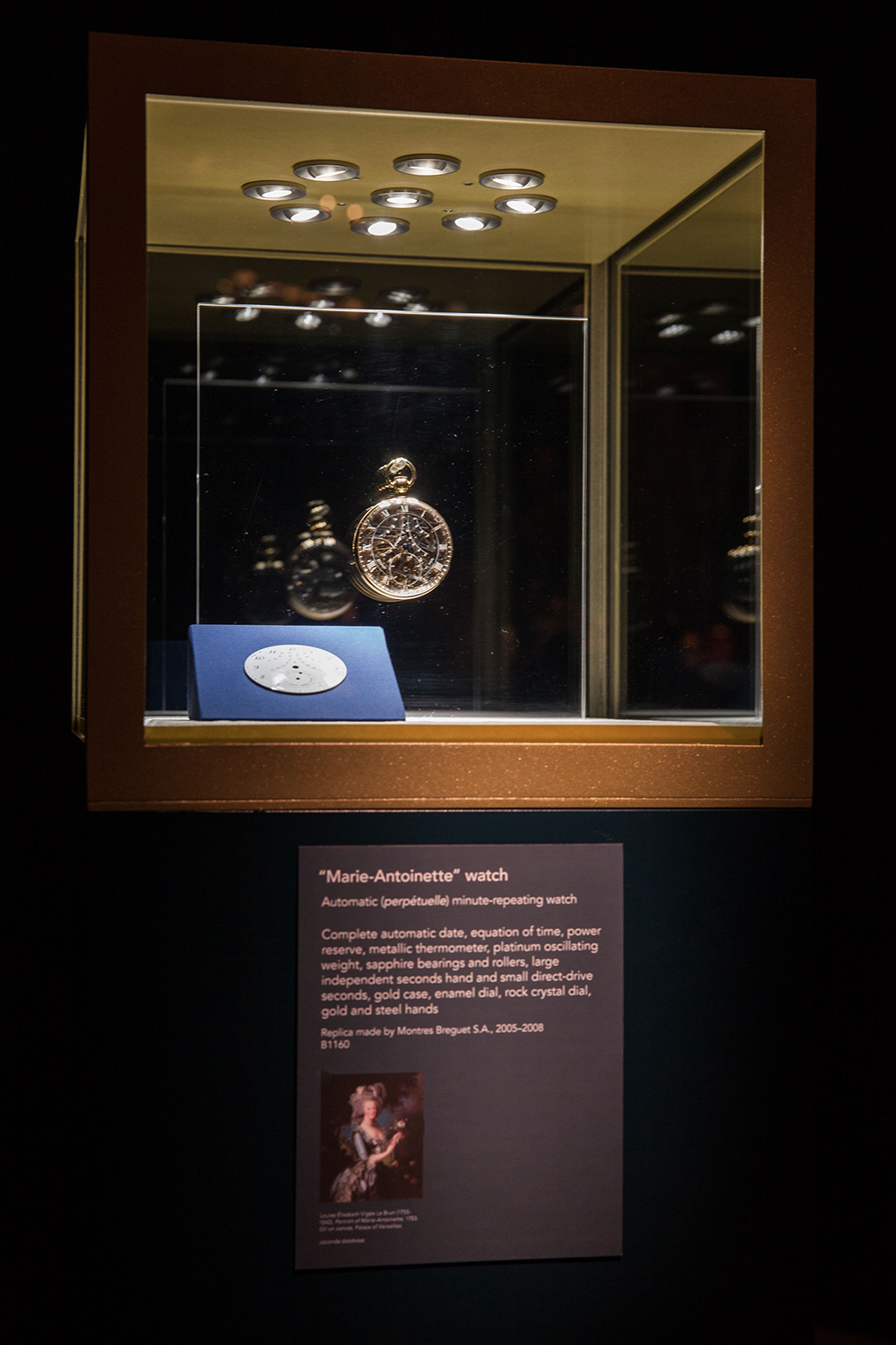 The Breguet Marie-Antoinette armored showcase presented at the Fine Arts Museums of San Francisco (CA)