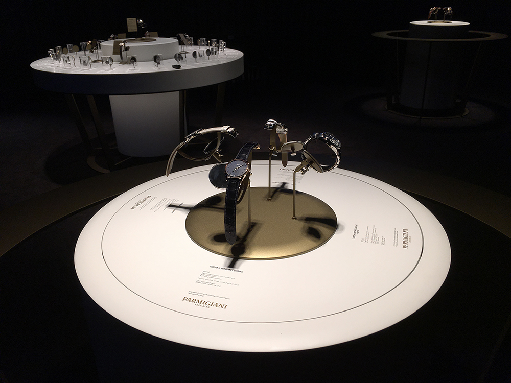Rotating display cabinets for Parmigiani Fleurier at SIHH2016.