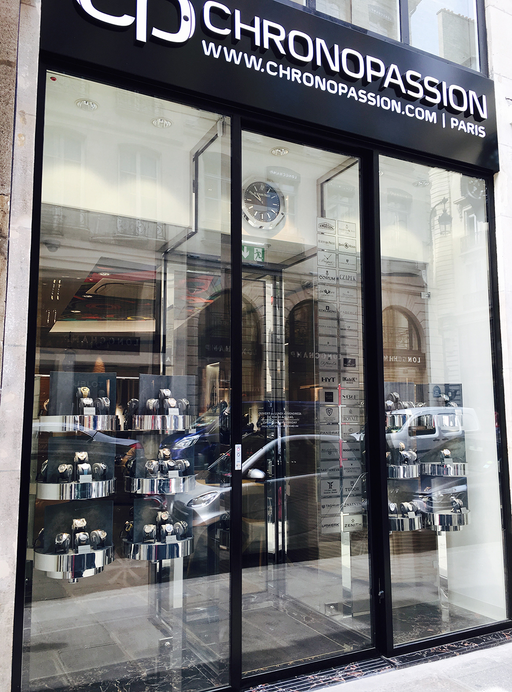 The new Chronopassion boutique at the heart of Paris will turn heads with carousel display cabinets.