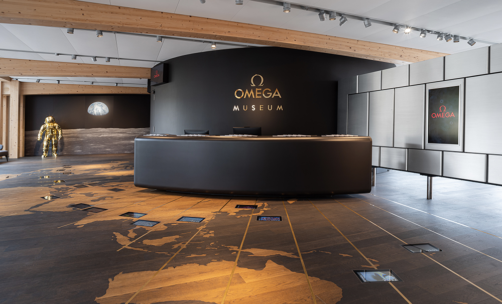 The new Omega Museum is revolutionary, boasting the world's longest interactive display case.