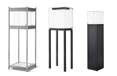Rental display cases : more than 20 different designs available for rent