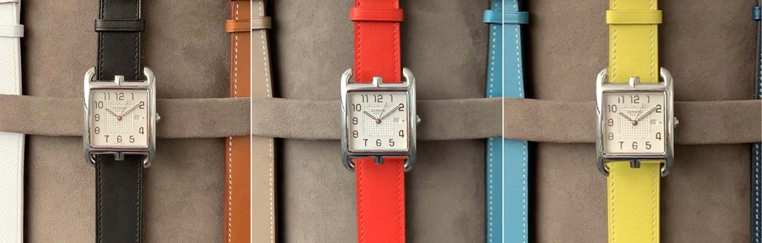 Hermès serves up every color of the rainbow with its multi-colored watch straps.