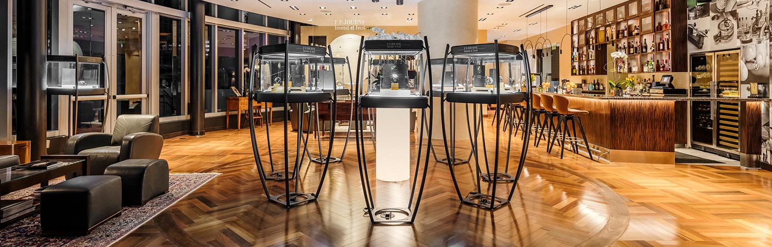 The Archange display case for FP Journe celebrates its 20th anniversary in Miami