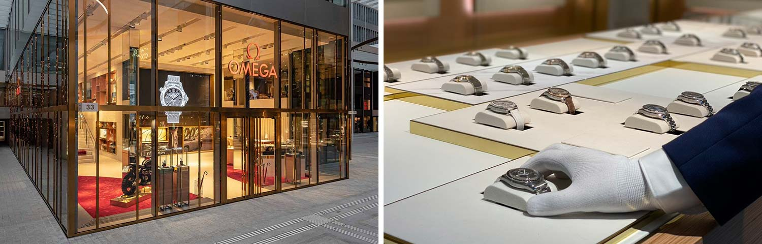 The largest Omega boutique in Europe has opted for free access at The Circle Zurich.