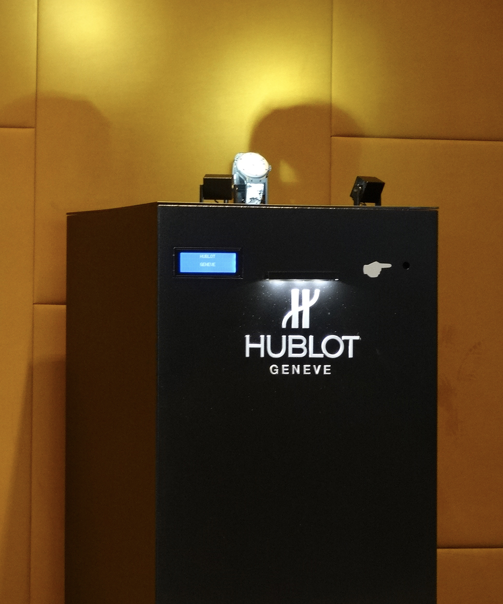Raptor, the display case without glass for Hublot.