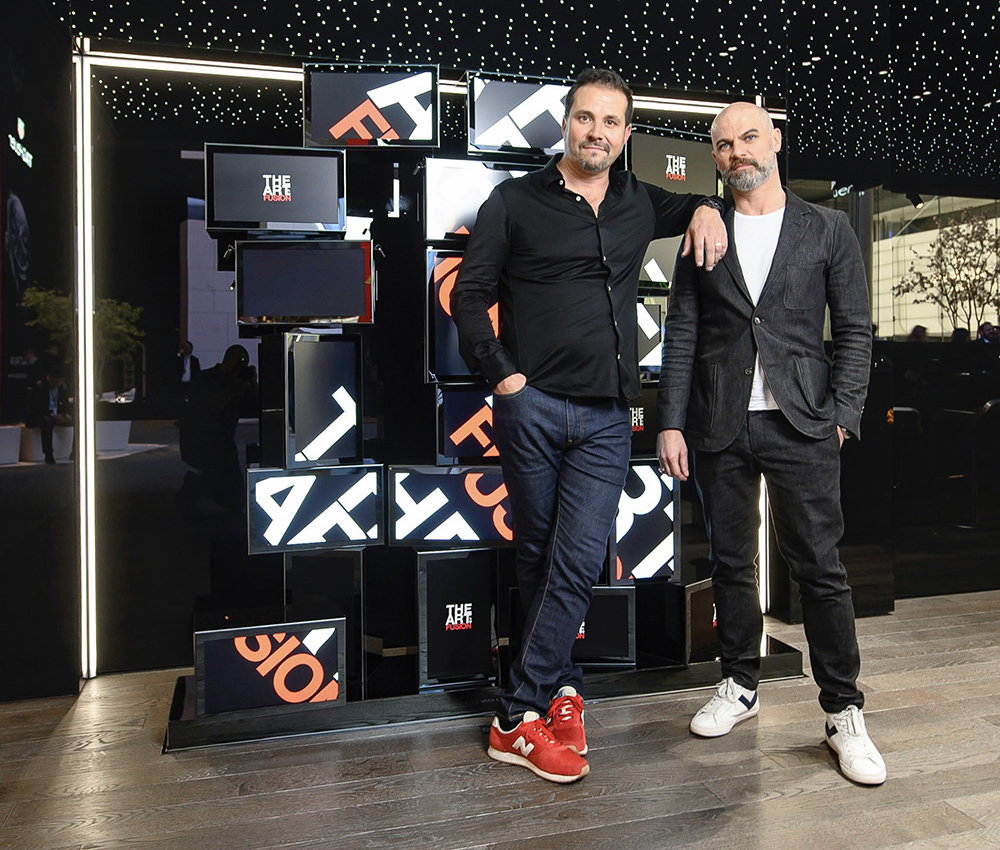 Xavier Dietlin and Xavier Perrenoud at Baselworld.