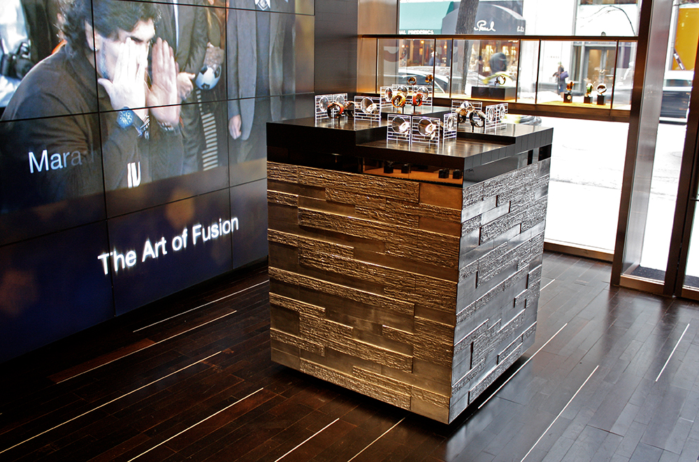 The Madison Hublot boutique in New York opened in 2010 in collaboration with Peter Marino.