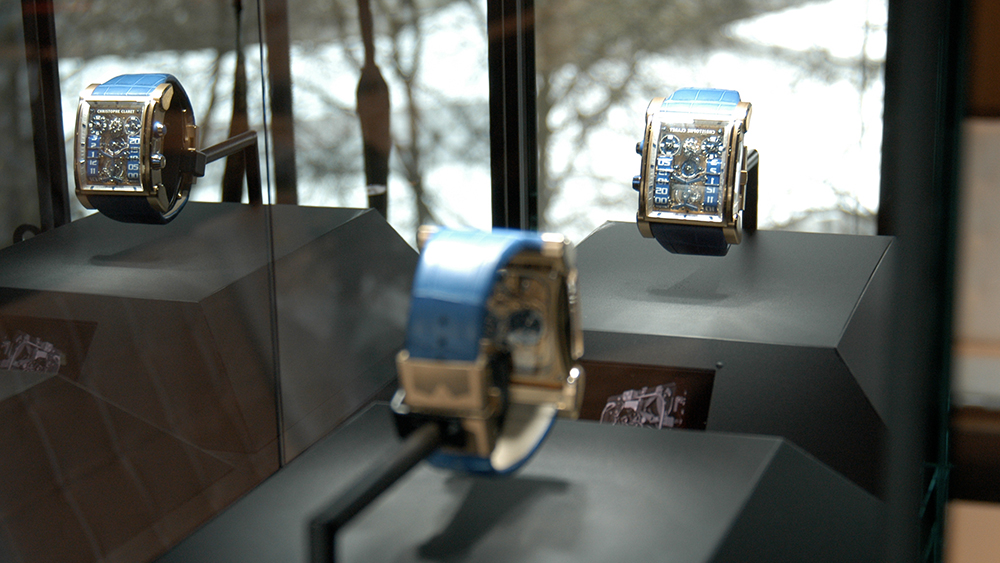 Christophe Claret uses Spy Glass display case at Baselworld.