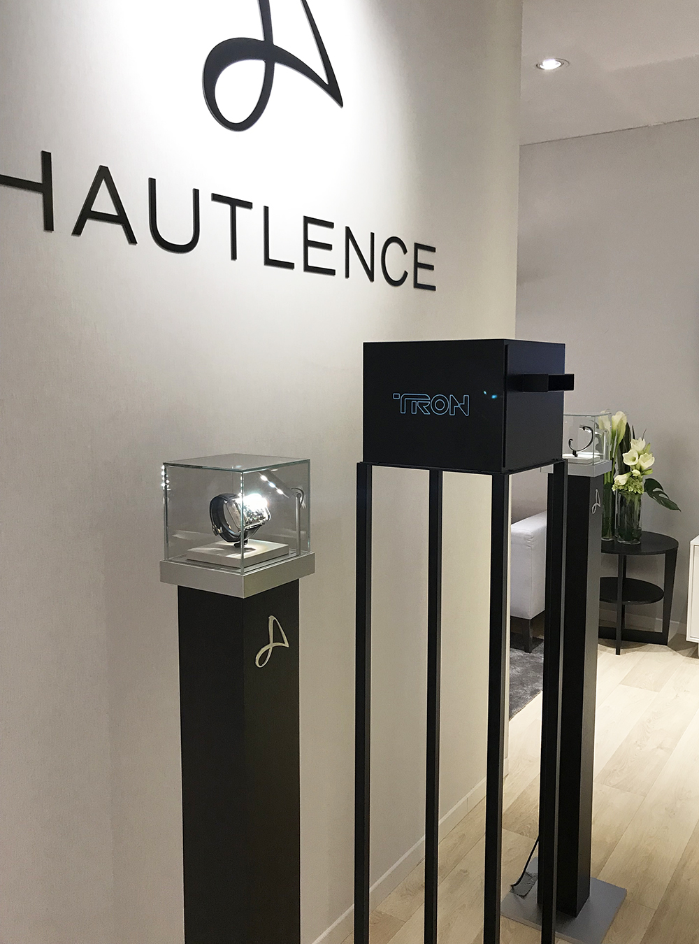 Hautlence and its futuristic TRON display case at the SIHH 2018.