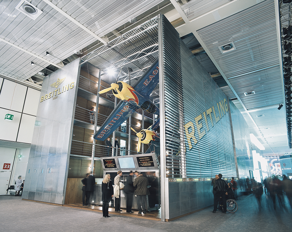 Breitling and its 3-storey exhibition stand at Baselworld.