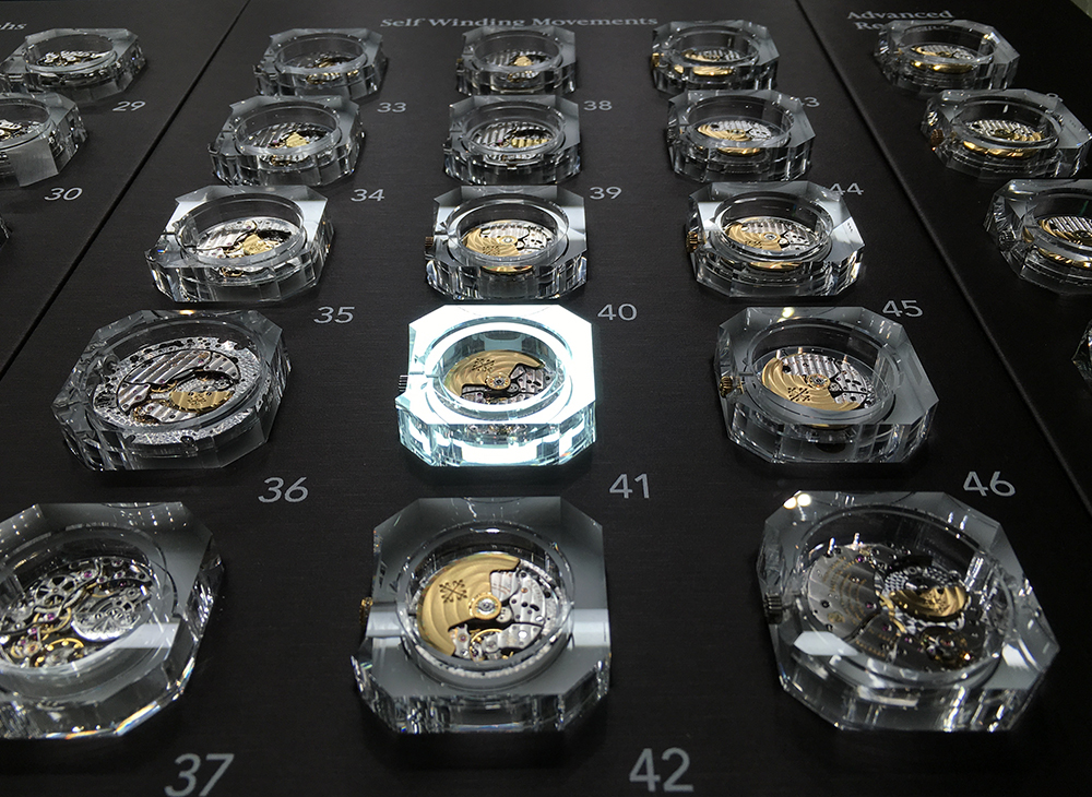 Patek Philippe at Baselworld: movement's display case.