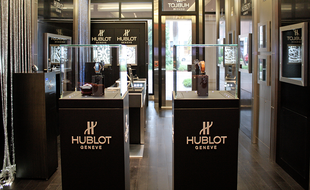 Hublot watches are burning at the Boca Raton boutique in Florida.