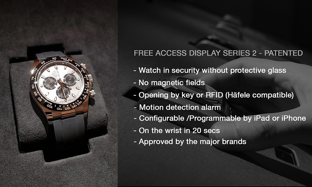 "Patented Free Access Display for wristwatches: Â¡HASTA LA REVOLUCIÃ""N SIEMPRE!"