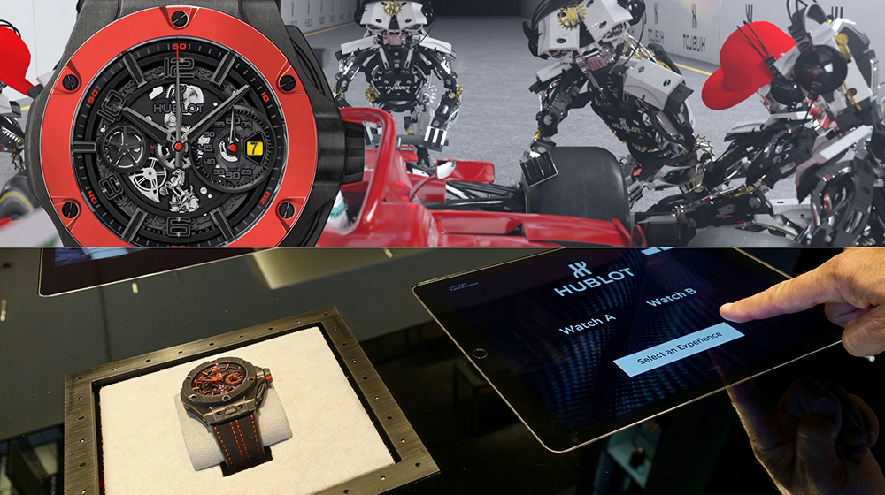 The new Ferrari display at the Hublot boutique Geneva means it's time for a pit stop!
