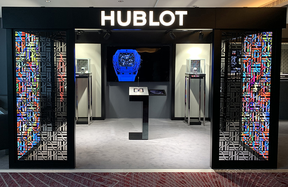 Hublot iFusion interactive desk at Geneva Days.