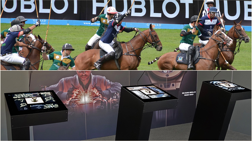 Fusion Display Case at the Hublot Polo Gstaad: A new means of presenting a product.