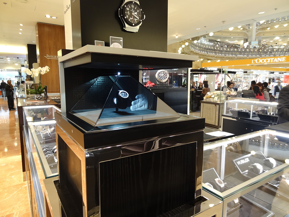 Watches are burning after a meteorite crash at Galeries Lafayette in Paris.