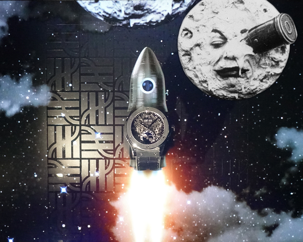 Hublot and the trip to the Moon by George Méliès.