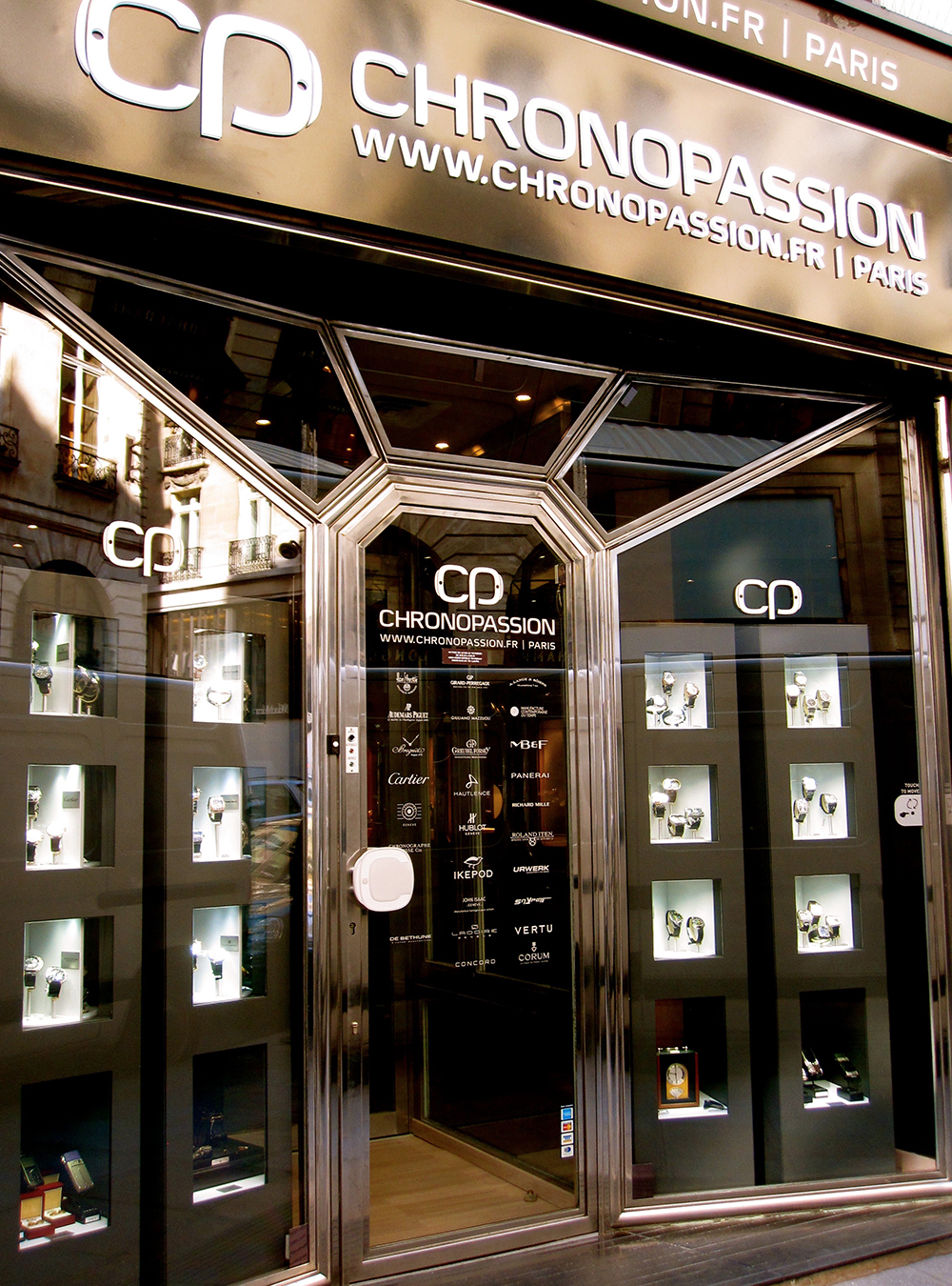 Chronopassion in Paris will turn heads with Carousel display cabinets.