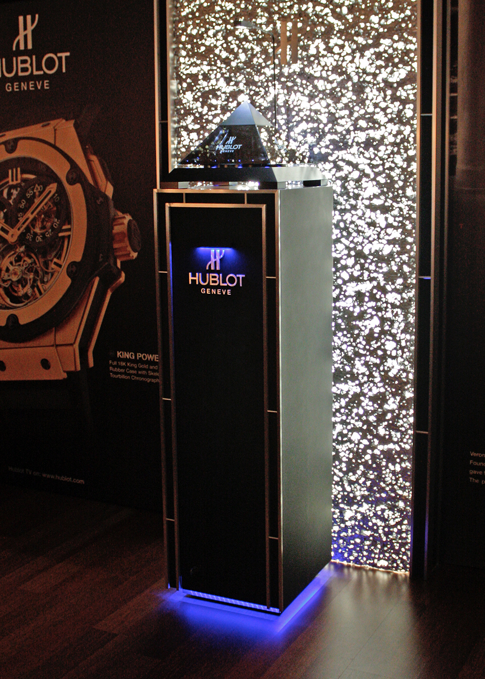 Hublot and its magic Pyramid box at Baselworld 2010.