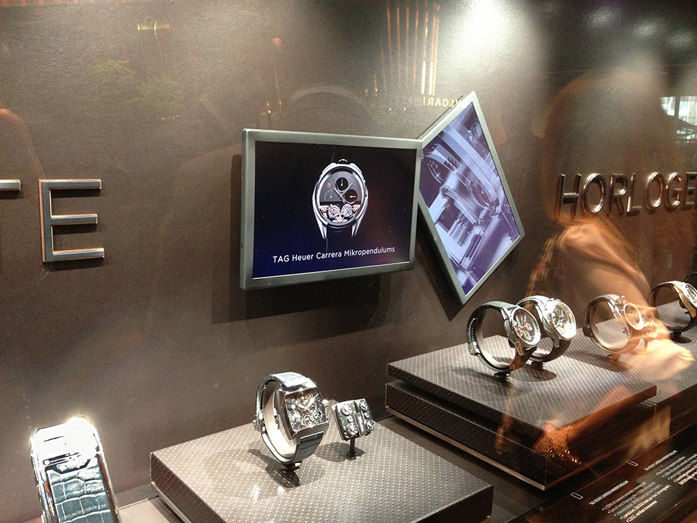 Screens are moving for Tag Heuer at Baselworld 2013: New dynamic video displays.