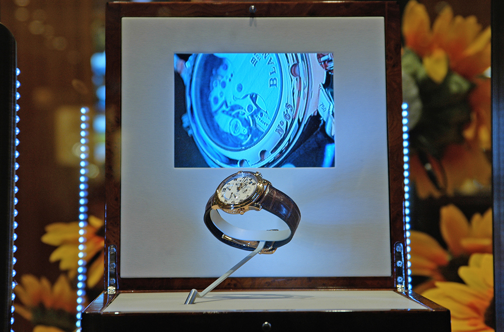Blancpain at Baselworld 2006 with the first live camera system using sensitive touch buttons.