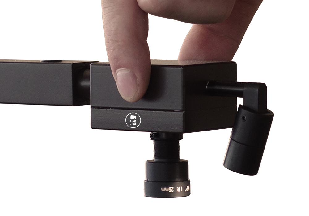 Miniature camera full HD system broadcast in live.