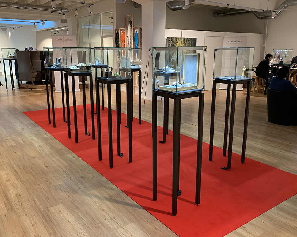 The Espace FERT takes on the colors of Anthares display cases during Geneva Days.