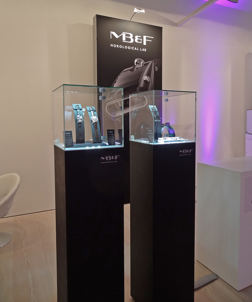 Mb&F at SalonQP and Baselworld.