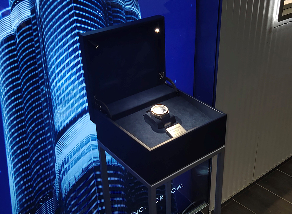 Zenith and its magic box in the Singapore boutique.