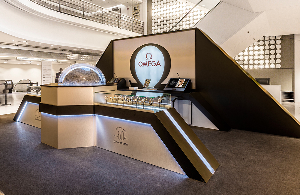 Omega, Magic Box at The Galeries Lafayette in Paris.