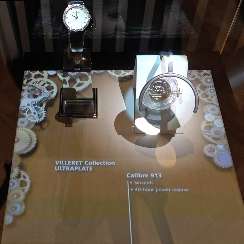Blancpain and its interactive display cases at Baselworld 2018.