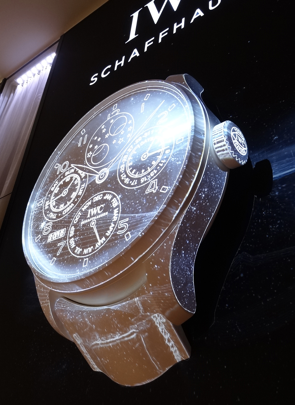 IWC presents the world's biggest three-dimensional watch at the SIHH 2015.