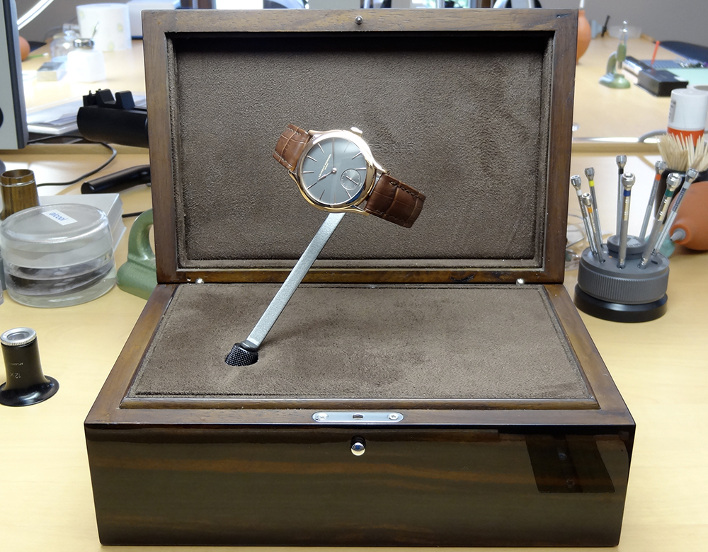 Laurent Ferrier turns heads with its tourniquet display box.