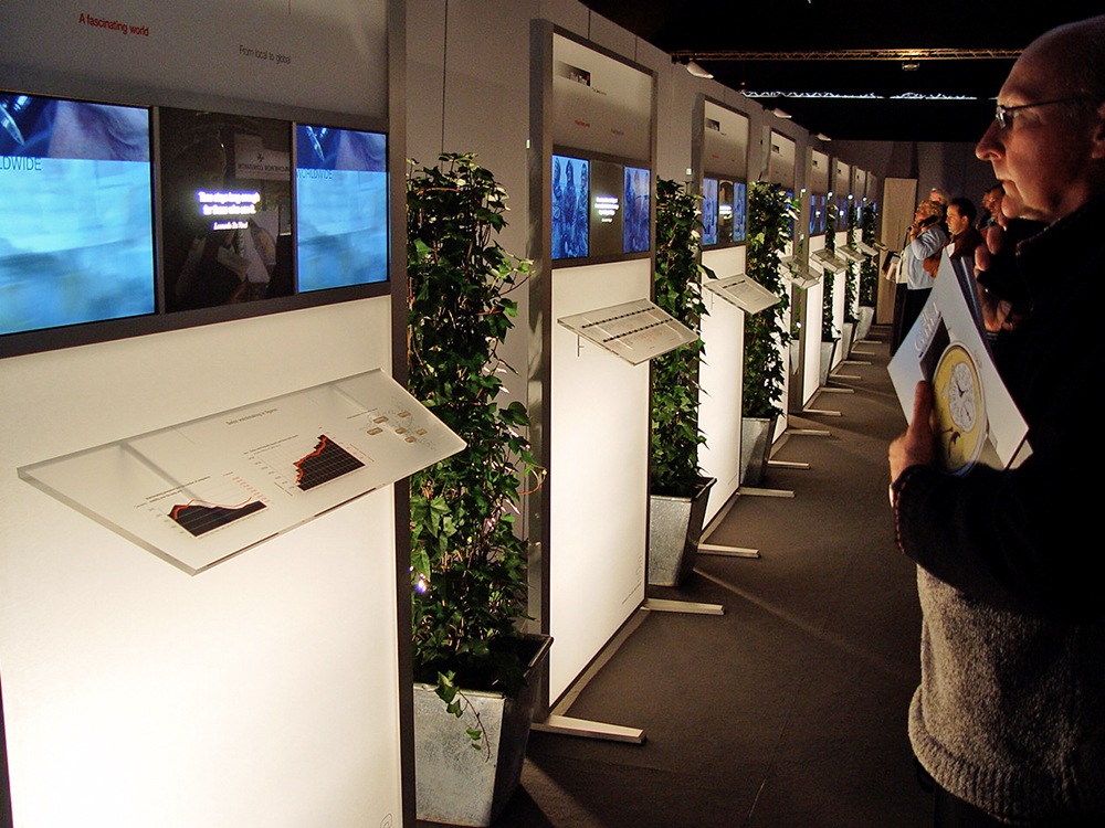 Think Time: A traveling and living exhibition for the Federation of the Swiss Watch Industry (FH).