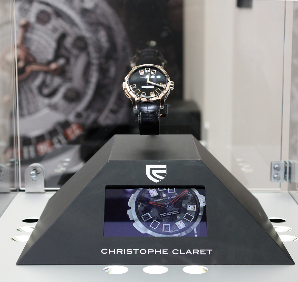 Christophe Claret uses display with integrated OLED screen.