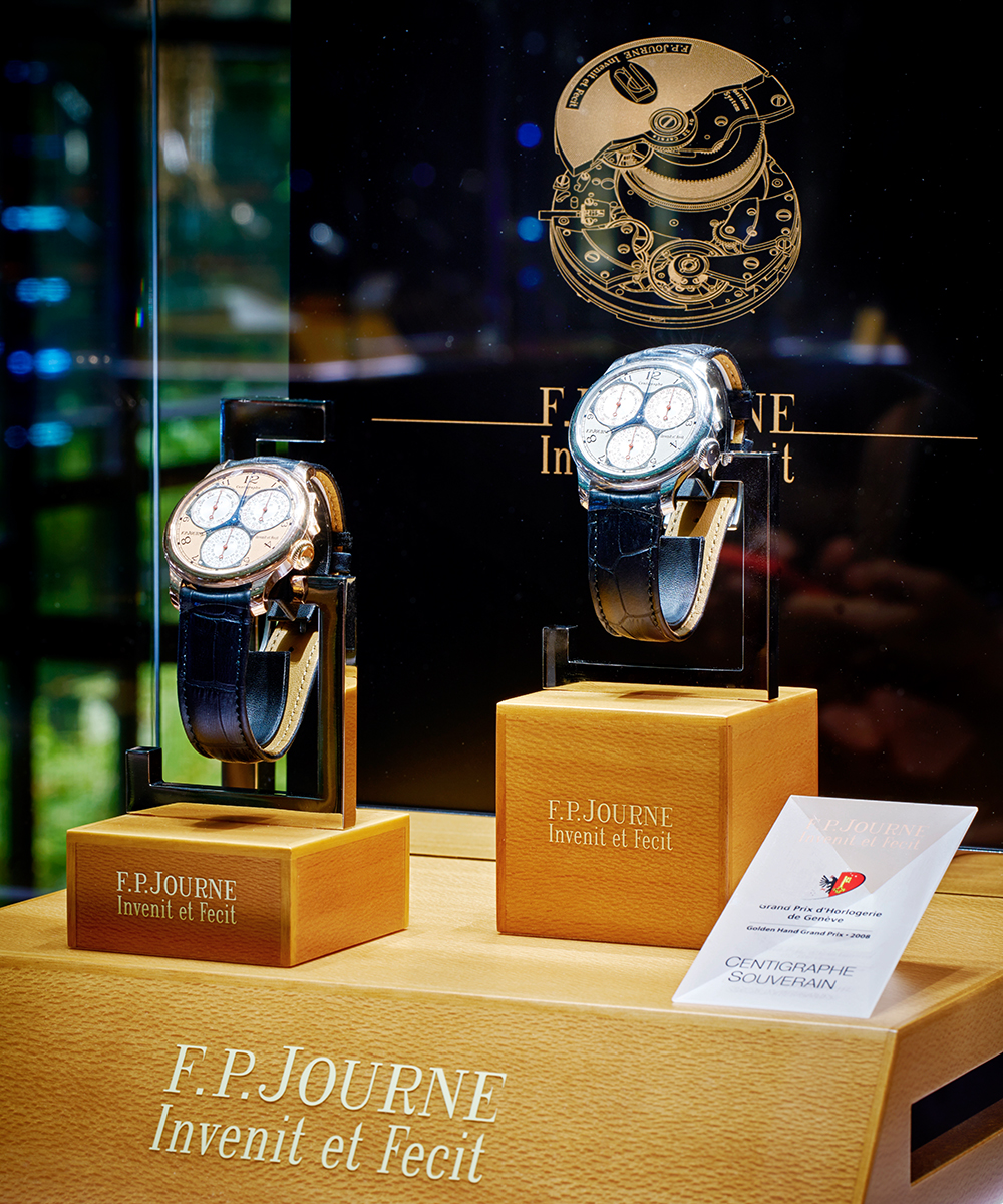 artmonte-carlo : An artful setting for F.P.Journe's ephemeral Boutique!