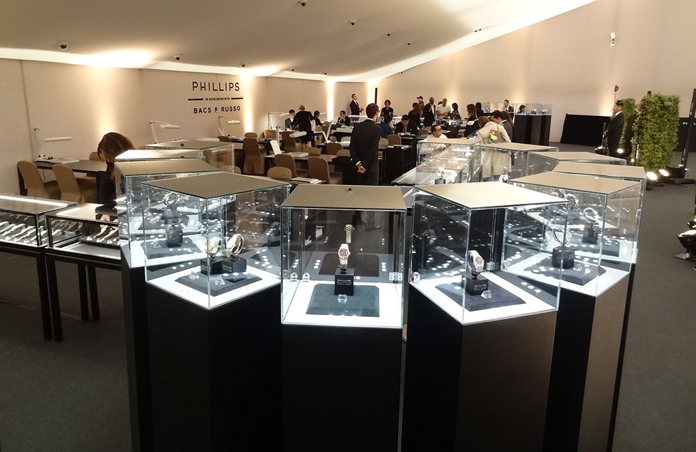 Phillips, Bacs & Russo : The Geneva Watch auction at Hotel La Reserve.